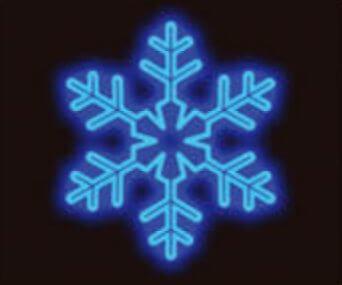 LED kalėdinė dekoracija Snaigė mėlyna