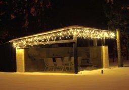 Kalėdinė lauko girlianda Varveklis Icicle Light su baltu laidu