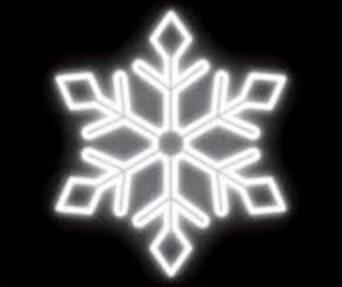 LED kalėdinė dekoracija Snaigė balta
