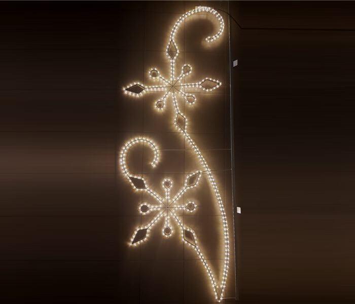 Kalėdinė dekoracija stulpams puošti LC-418