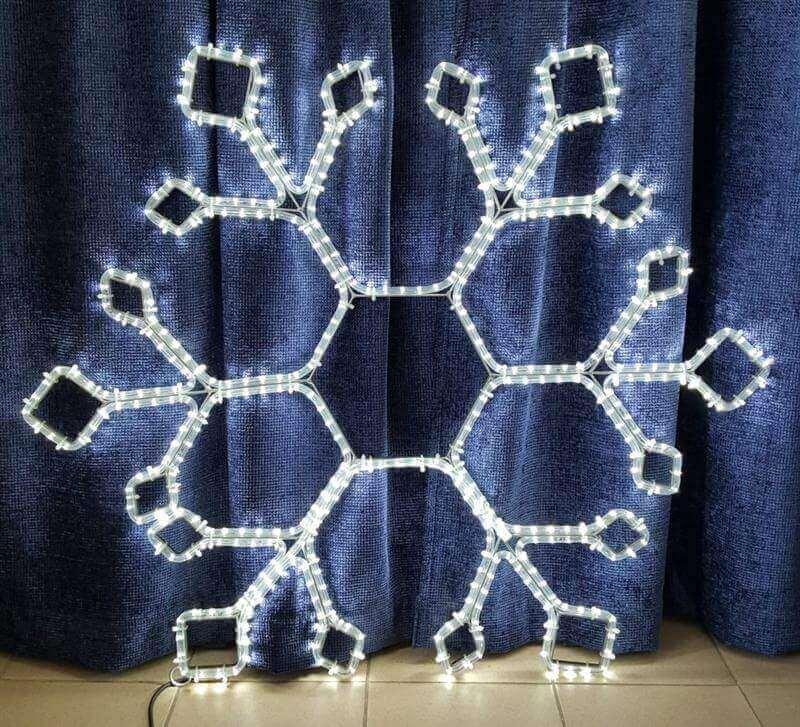 LED kalėdinė dekoracija Snaigė
