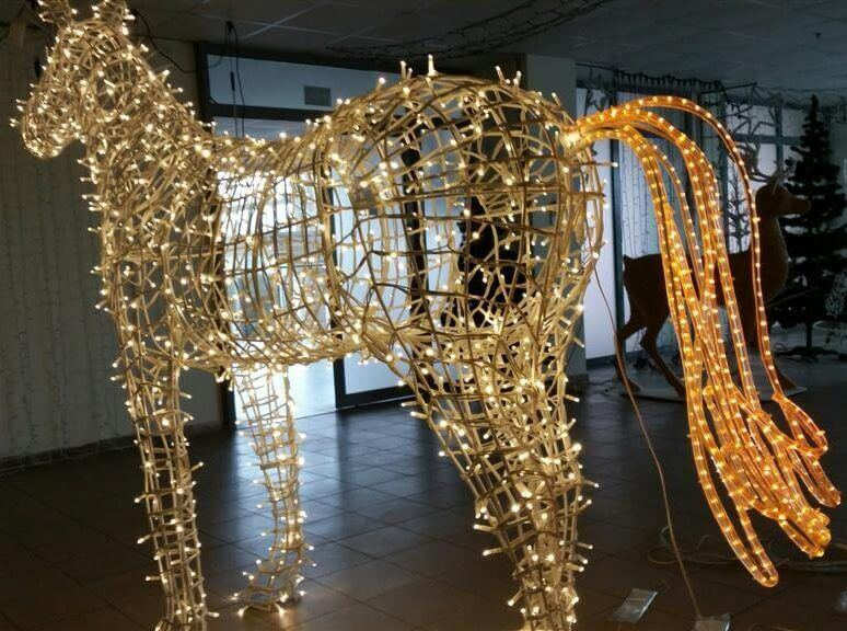 Šviečianti figūra Arklys